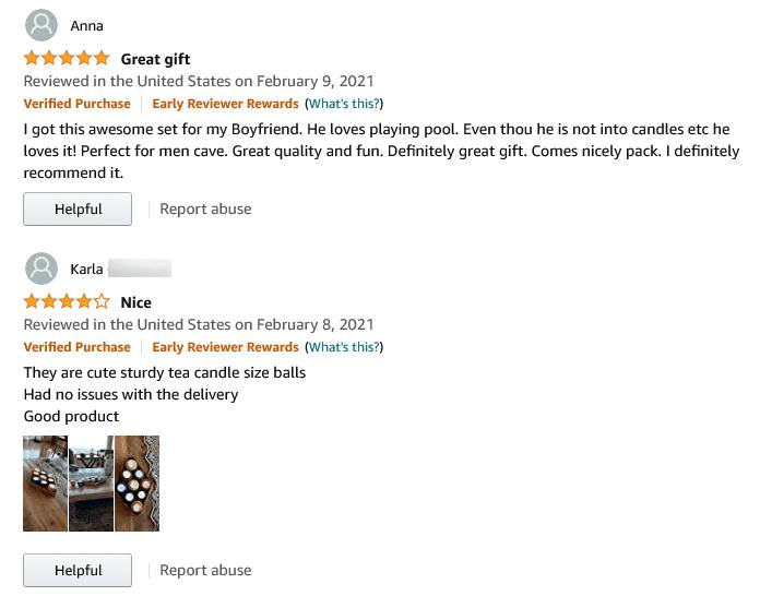 sample Amazon review