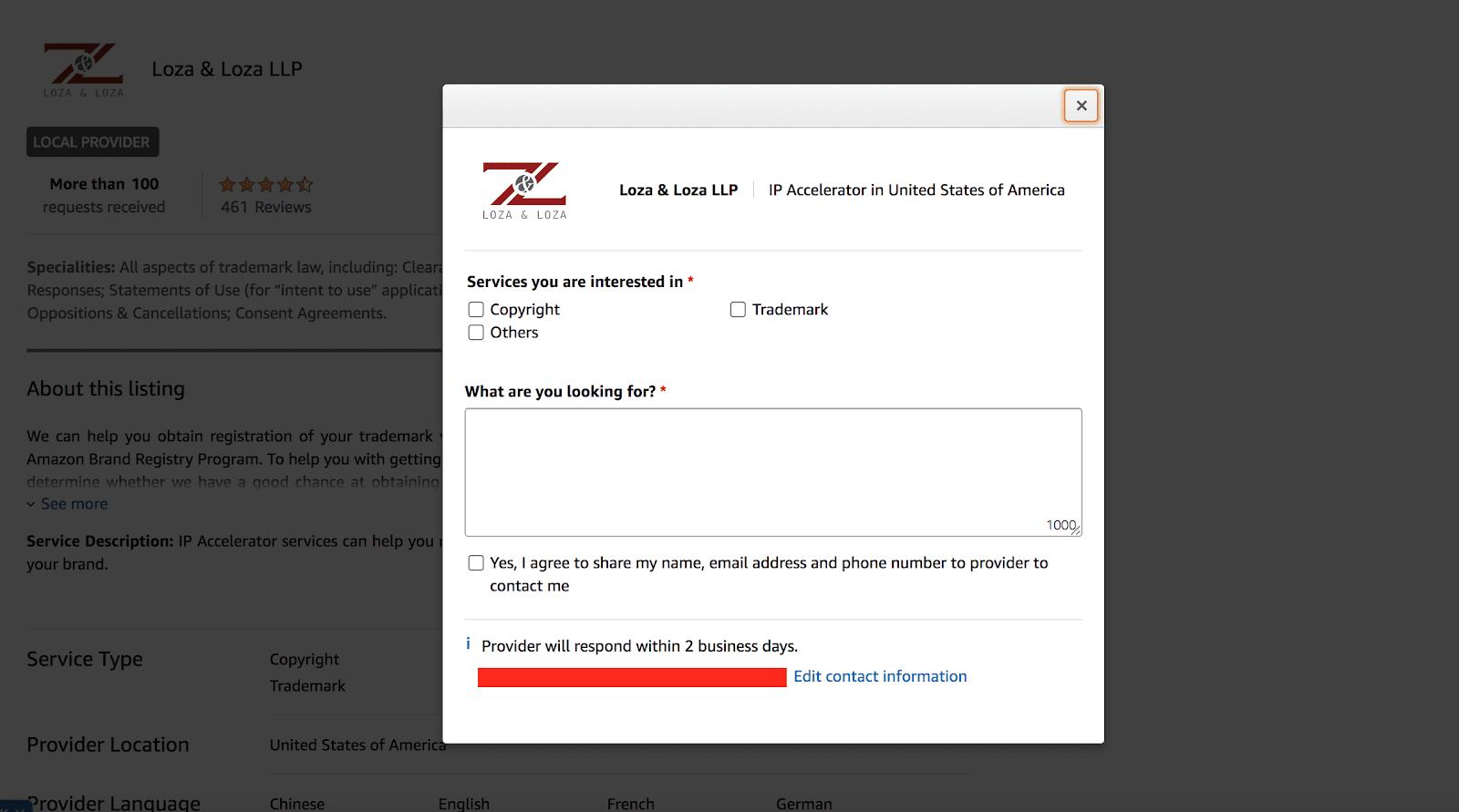 amazon ip accelerator program contact provider 2