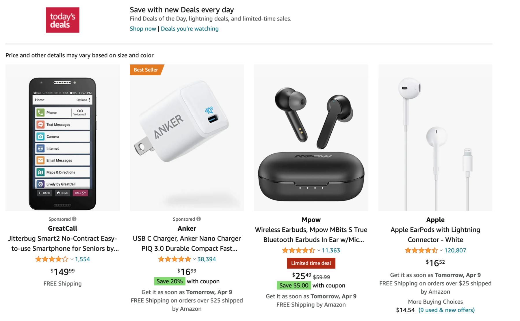 Today's Deals - Amazon