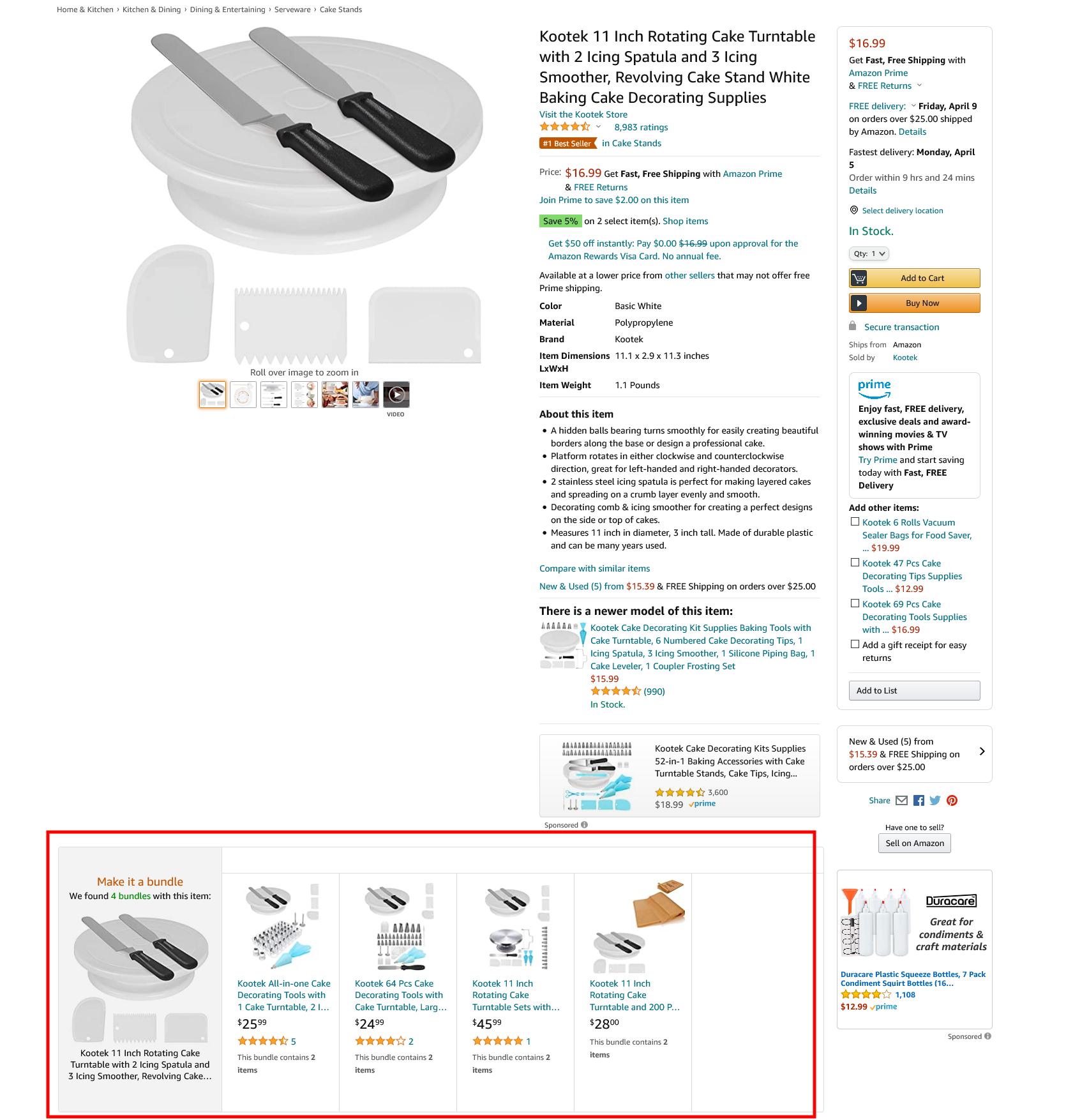 amazon virtual bundles widget sample