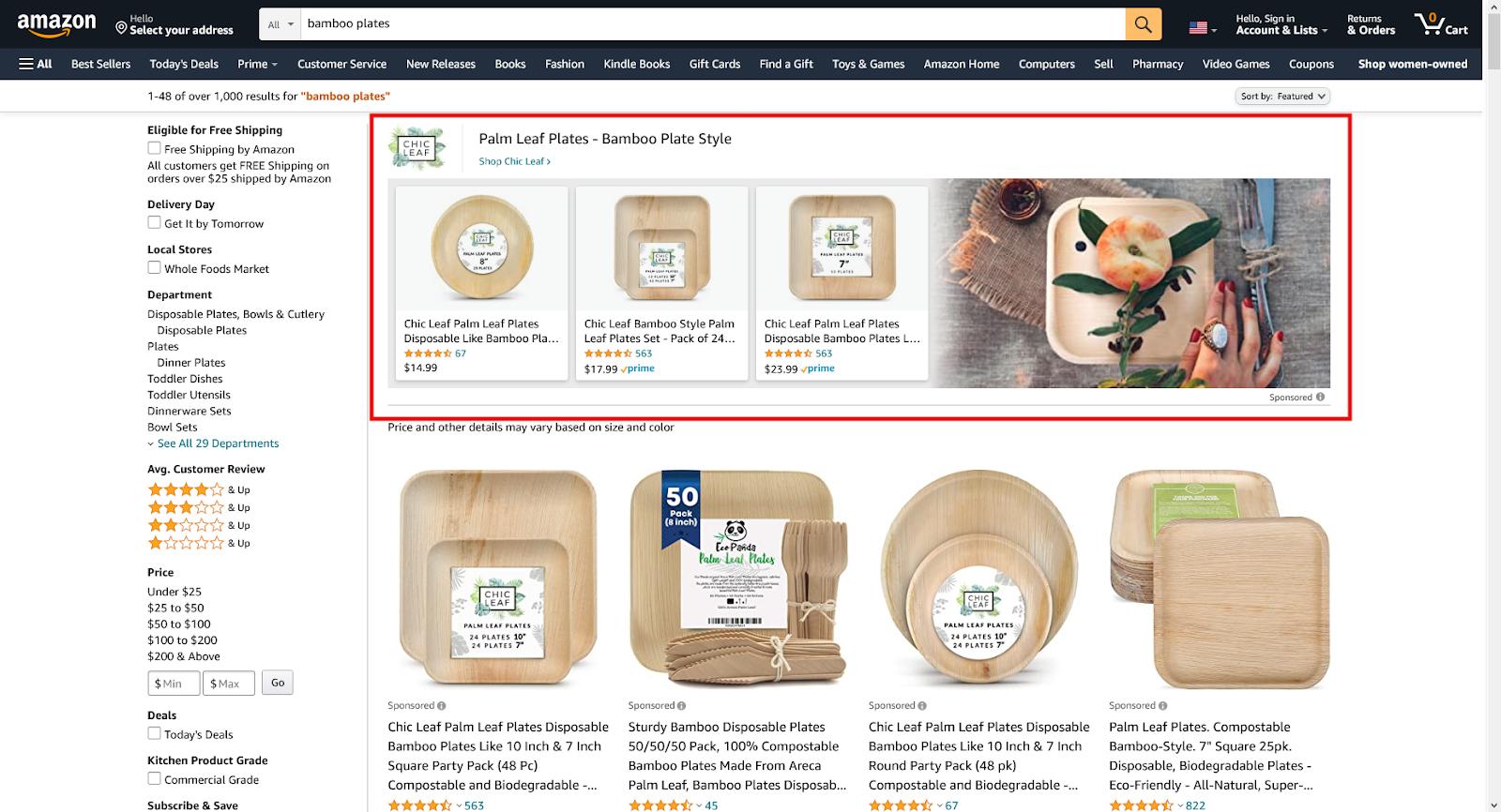 Amazon Sponsored Brand Ad sample