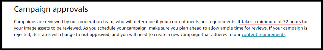 campaign approvals Amazon manage your customer engagement